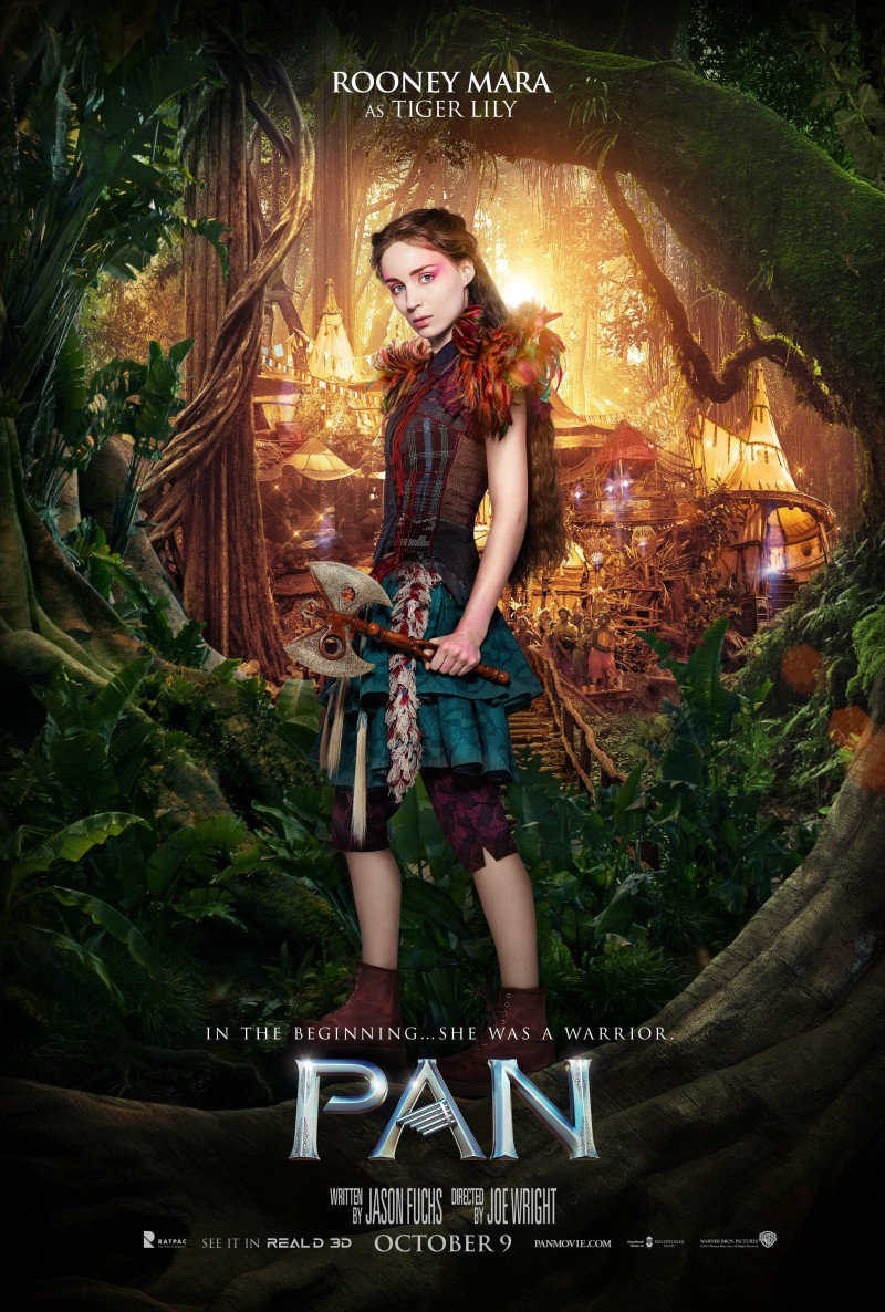 Pan-Movie-Poster-Rooney-Mara-Tiger-Lily-800x1186