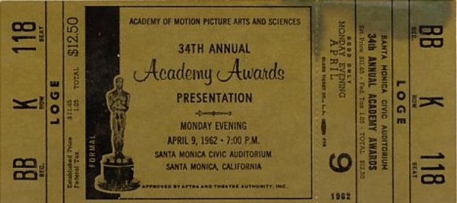 Oscars ticket
